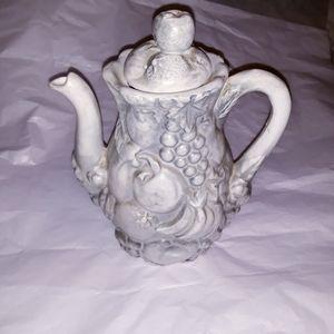 Vintage Fruit Tea Pot
